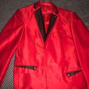 Other - Custom Red blazer with black lining